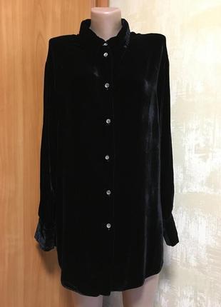 Роскошная бархатная рубашка ,в составе шёлк!!