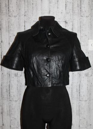 Укороченная кожаная куртка/болеро/кимоно 100% натуральная кожа xs-s