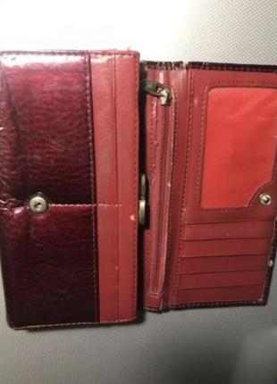 Кошелёк портмоне женский красный 10*17см