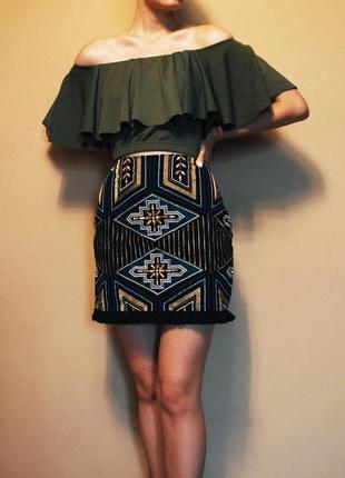 Крутая юбка вышивка