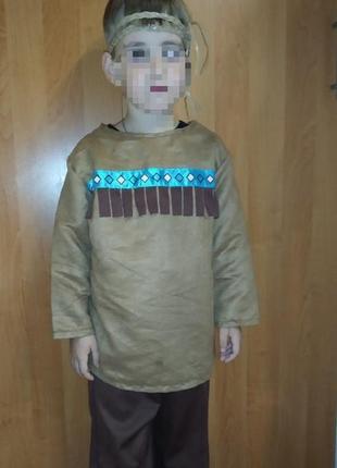 Карнавальный костюм индеец на 5-6 лет