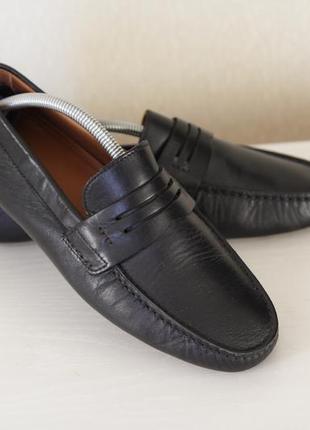 Люксовые мужские кожаные туфли лоферы от navyboot p.40