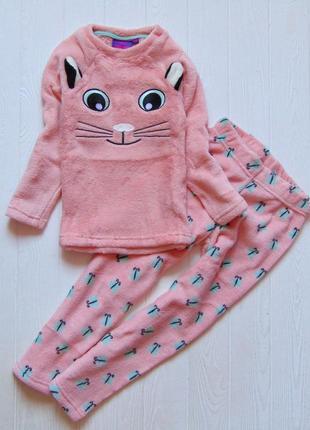 9th avenue. размер 5-6 лет. новая тёплая плюшевая пижама для девочки