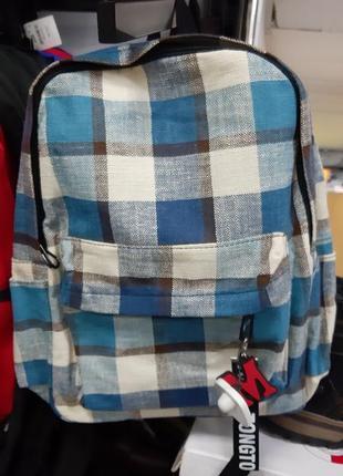 Стильный рюкзак в клетку рюкзак в клітинку тренд