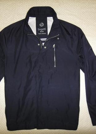 Куртка ветровка вugatti р. 52-54 черного цвета, на подкладке