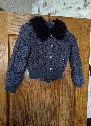 Курточка для девочки с меховым воротником 🌺♥️