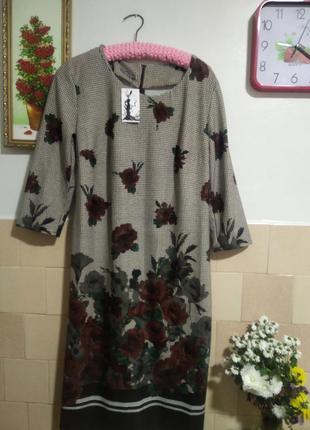 Минова новое платье р 54 на осень,зиму,приличная длина