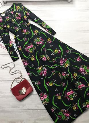 Шикарное макси платье в цветы  в180702 primark размер s/m длинное