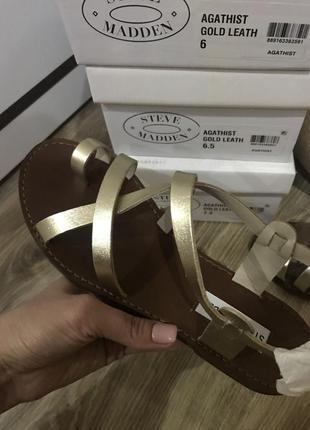 Крутые кожаные сандали steve madden 36, 37, 38 размер