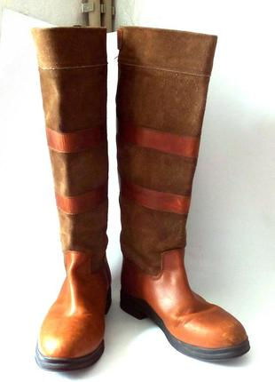Качество! кожа! демисезонные сапоги от бренда cavalry collection, р.42 код v4203