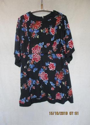Платье-туника в цветочный принт/батал