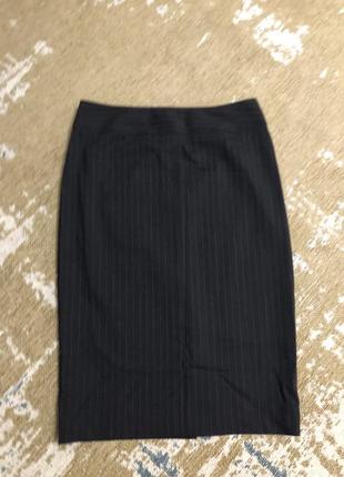 Классическая юбка костюмная ткань в полоску шерсть austin reed!