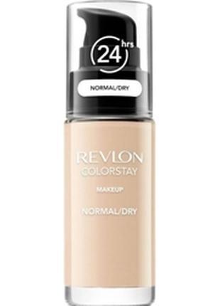 Стойкий тональный крем colorstay makeup revlon для нормальной и сухой кожи, 30 мл.