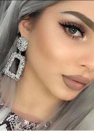 Серьги в стиле zara сережки серёжки винтаж серебро