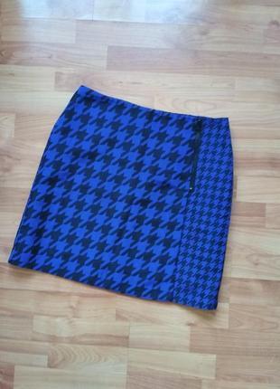 Синяя фирменная юбка на запах m&s