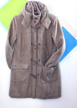 Шерстяное утепленное пальто куртка miss etam