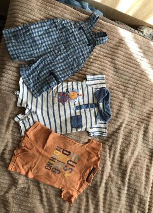 Летний набор для мальчика песочник и комбинезон