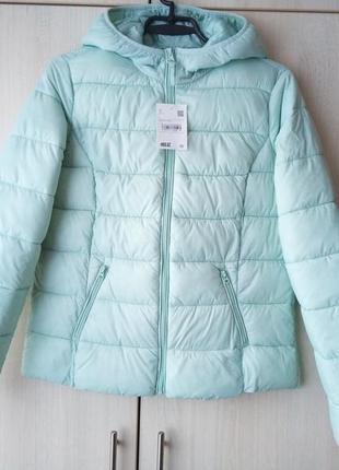 Мятна демі курточка