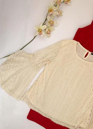 Шикарная кружевная блуза quiz размер 48-50