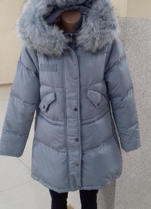 d9da13de4c7 Бирюзовые женские зимние пальто 2019 - купить недорого вещи в ...