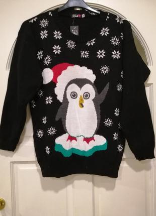 Новогодний свитер со снеговиков