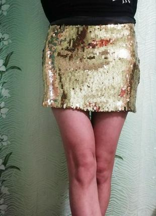 Блестящая юбка турция