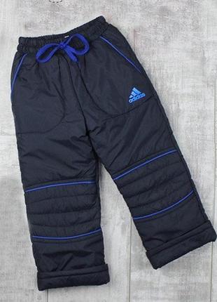 Теплые штаны на флисе р. 92-98