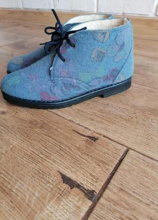 Ботинки дезерты inblu. фетр.