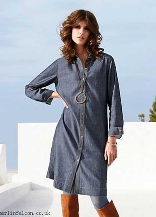 Стильное джинсвое платье   peter hahn