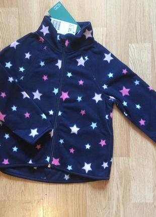 Флиска, флисовая кофта, худи для девочки h&m,размер 2-4, 98-104