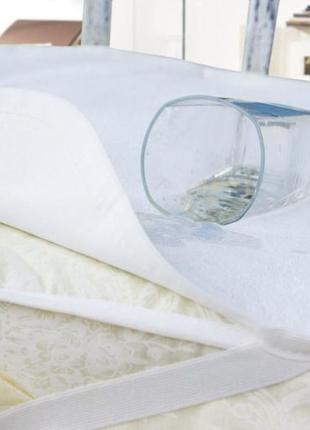 """Непромокаемый наматрасник в детскую кроватку """"aquastop"""" белый"""