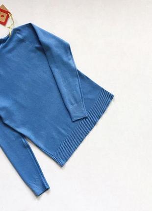 Новый стильный гольф натуральная ткань цвет синий размер s-m