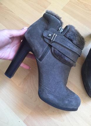 Замшевые сапоги ботинки marks & spenser