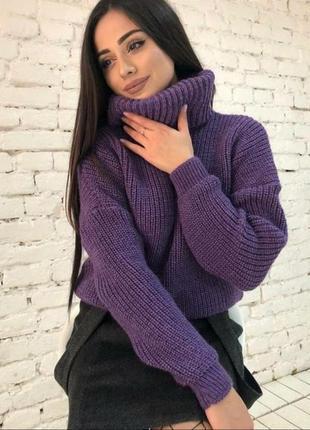 Стильный теплый объемный свитер в множестве расцветок