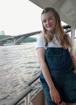 Джинсовый комбинезон шортами motor jeans можно беременным