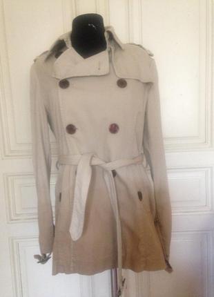 Оригинальная джинсовая куртка-пиджак расцветки омбре