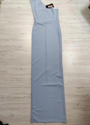 Нежно голубое вечернее платье стрейч