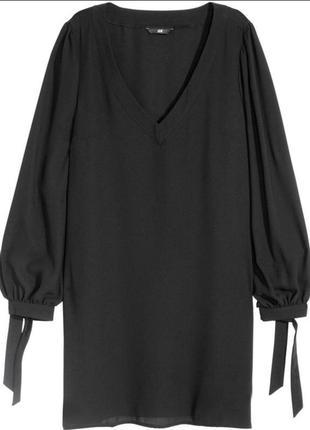 Классное платье с завязками на рукавах