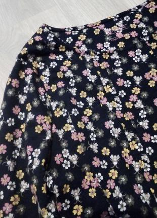 Хлопковая блузка цветы tu