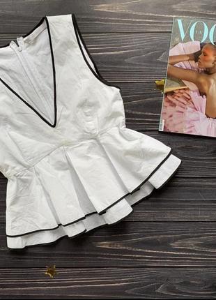 Zara котоновая блуза
