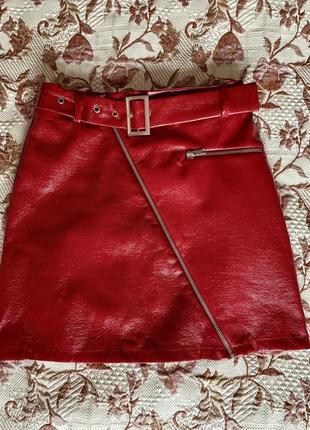Спідничка, юбка під шкіру new look