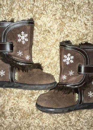 Зимние сапоги для девочки,20-21 размер
