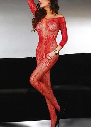 5-194 сексуальна боді сітка боди-сетка с рисунком в упаковке бодистокинг эротическое белье