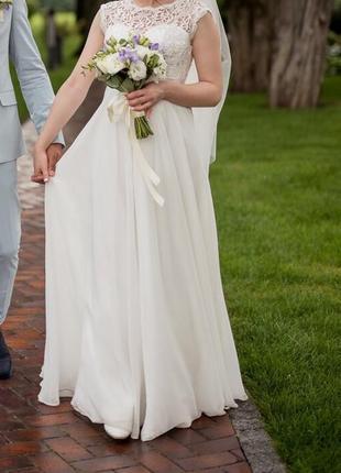 Платя свадебное цвет айвори