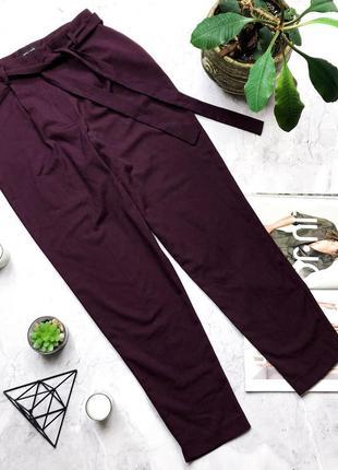 Шикарные брюки цвет марсала new look