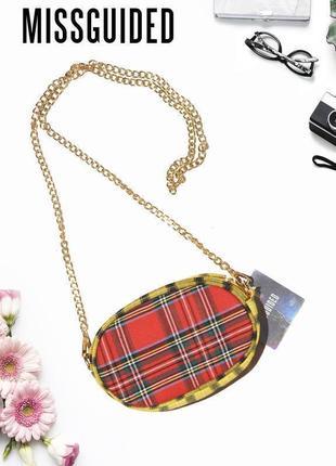 Двухсторонняя кросбоди сумка с цепочкой missguided