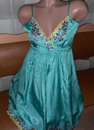 Чистый шелк!  платье сарафан 14uk