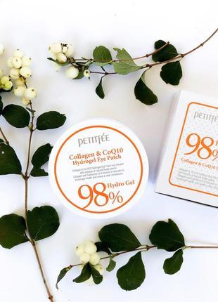 Гидрогелевые патчи petitfee collagen & q10 корейский патчи для глаз