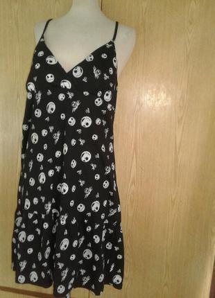 Трикотажное платье - сарафан в стиле хеллоуин, xl.