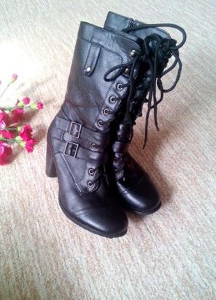 Демисезонные черные деми ботинки сапоги полусапоги gorgeous 38р новые